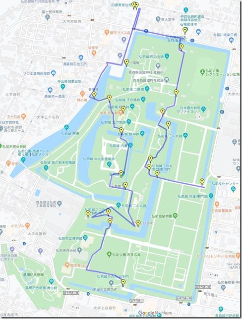 弘前城歴史跡コース